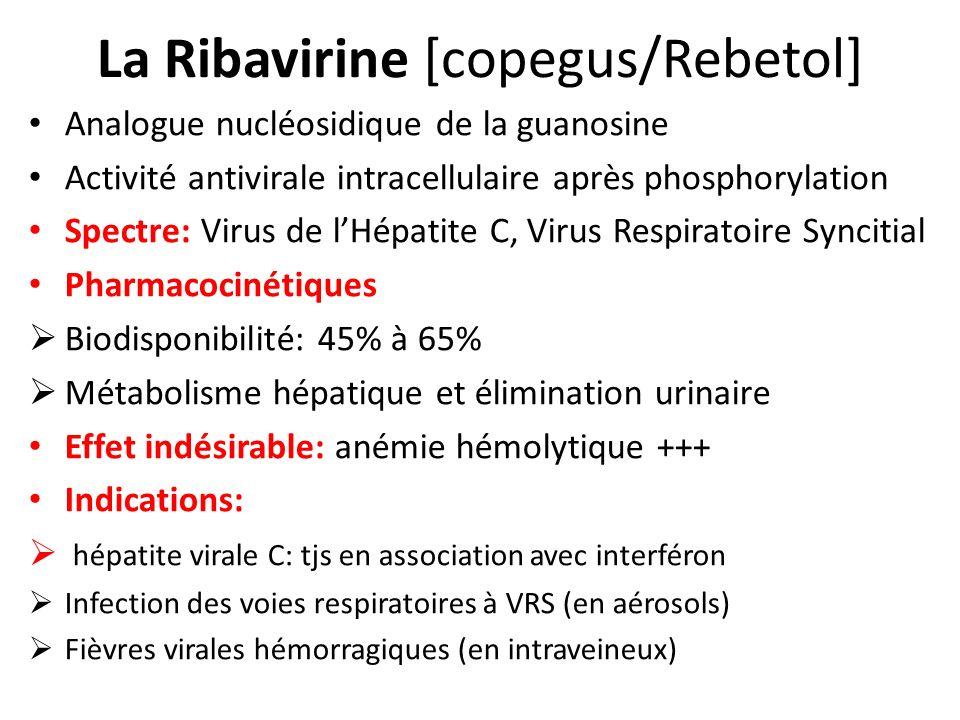 La Ribavirine [copegus/Rebetol]